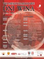 Plakat Międzynarodowych Dni Wina