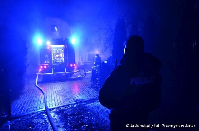 Górka Klasztorna: Pożar samochodu. O krok od tragedii (fot. P. Janas / Jaslonet.pl)