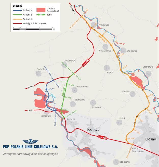 Radni Rady Miejskiej Jasła przeciwni budowie łącznicy kolejowej