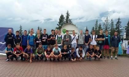 Trampkarze Czarnych na obozie w Czarnym Dunajcu