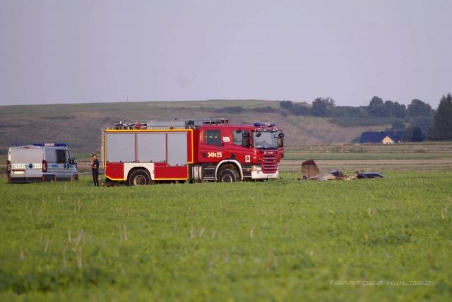 Wypadek lotniczy w Głowience. Pilotem był jaślanin
