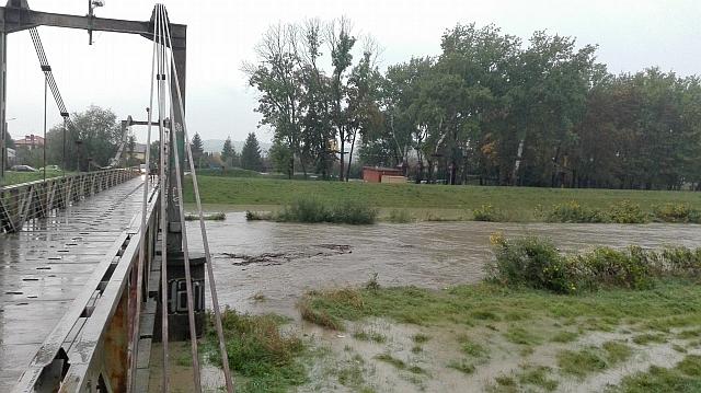 Alarm powodziowy dla Jasła (fot. Przemysław Janas, Jaslonet.pl)