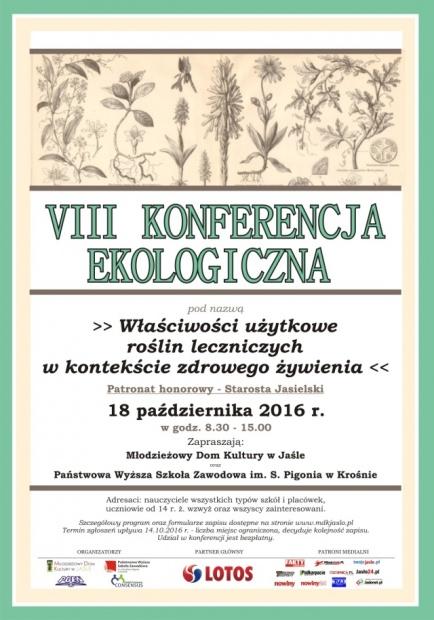 VIII Konferencja Ekologiczna w Jaśle