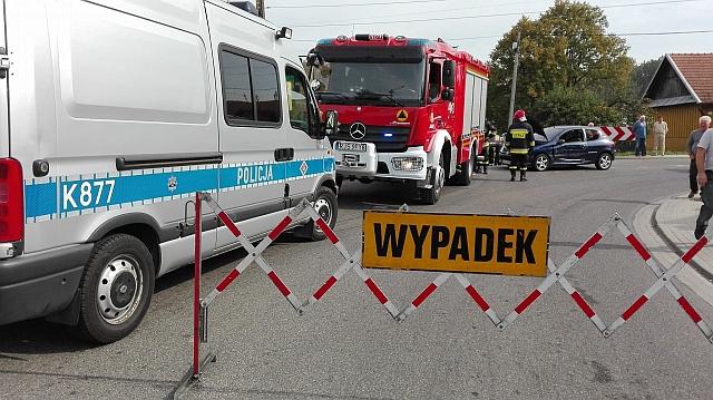 Jasło: Zderzenie motocykla z samochodem osobowym (fot. Przemysław Janas, Jaslonet.pl)