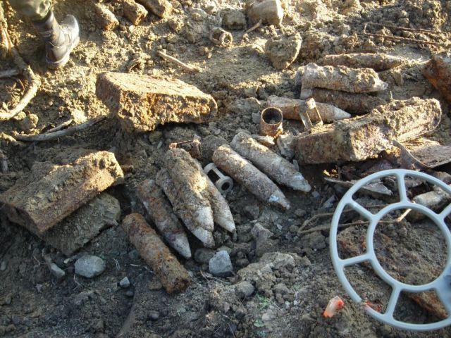 Podczas budowy chodnika znaleźli amunicję z czasów II Wojny Światowej
