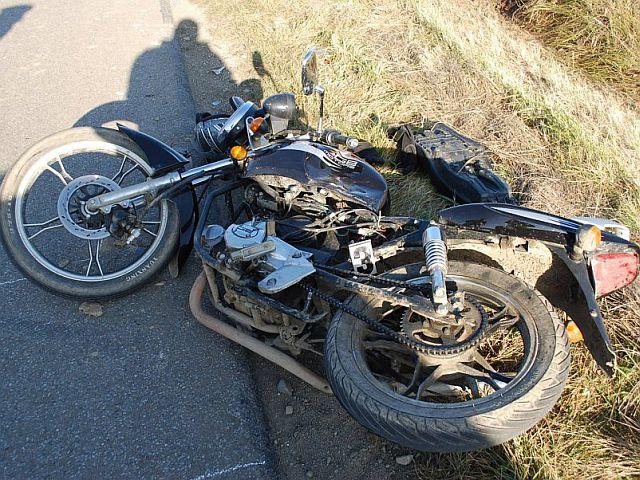 Nietrzeźwy motocyklista ucierpiał w wypadku