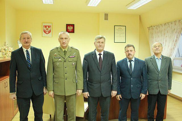 Spotkanie Starosty Jasielskiego z Dowódcą III Podkarpackiej Brygady Obrony Terytorialnej