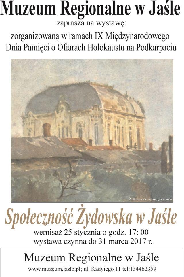 Społeczność żydowska w Jaśle (zapowiedź)