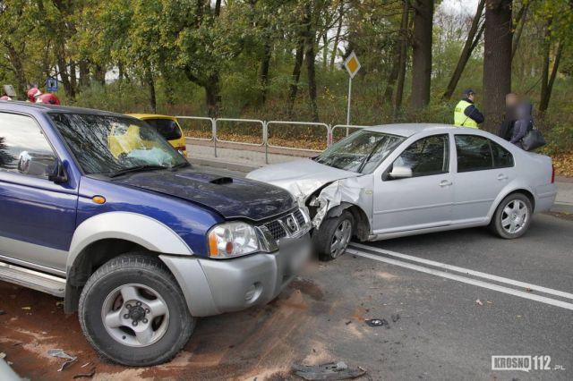 Wypadek w Szebniach. Były spore utrudnienia!