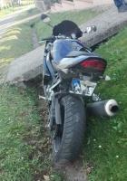 Nietrzeźwy motocyklista wjechał do rowu